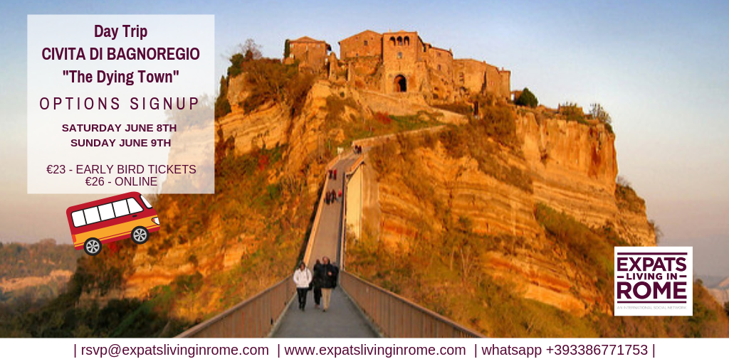 Day trip to Bagnoregio from Rome Italy 2019