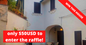 win a house in Italy raffle