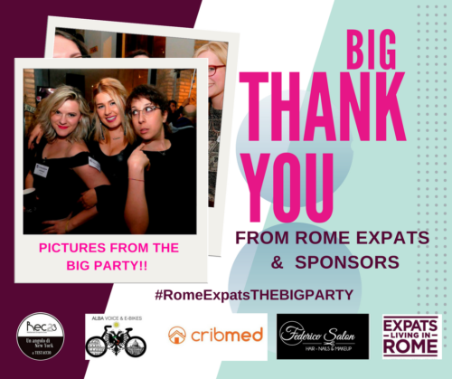 00aInstagram The big Party Rome Expats business sponsors!! RomeITaly Moving